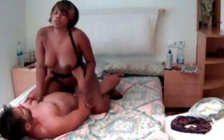 Stunning Ebony ex-girlfriend with big tits has hard sex