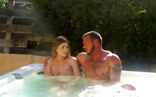Muscular stepbro licking snatch of hot stepsis Sydney Cole