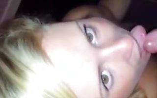 Gorgeous blonde college girl sucks nicely in homemade porn