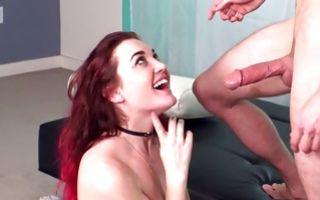 Nasty young ex-girlfriend Monroe sucking big powerful dicks
