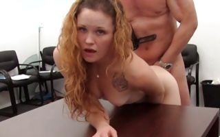 Gorgeous ex-girlfriend Madison has insane sex with dude