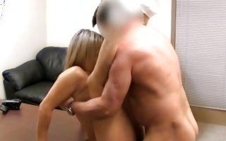 Nasty light-haired girlfriend Davani has insane painful sex