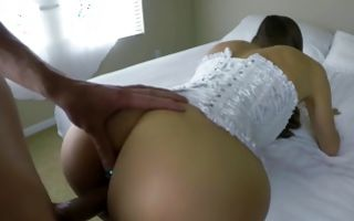Watch my GF with amazing butt insanely fucked in ass hole