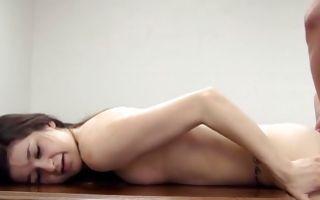 Sweet dark-haired girlfriend Delaney has insane anal sex