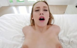 Magnificent naughty GF Kasey Miller deeply fucked in muff
