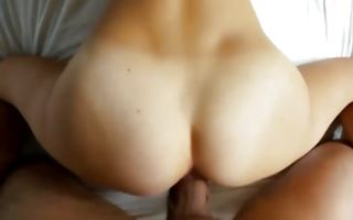 Pretty dark-haired GF roughly fucked in delicious cunt
