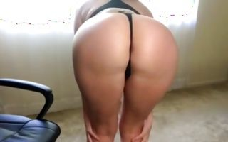 Fascinating brunette Ex-GF insanely playing with ass hole