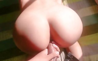 Hot babe with giant ass slammed from behind