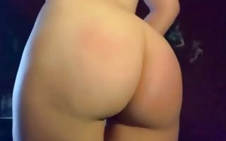 Horny babe with her giant booty touching pussy