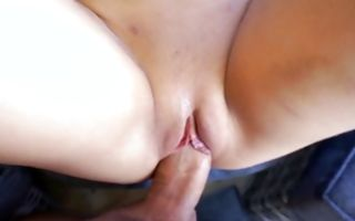 Stunning amateur slut Ally with perfect ass riding on dick