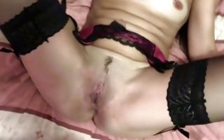 Marvelous brunette floosie fucked on bed by fake cop
