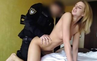Hot blonde slut Steffany fucked by horny policeman