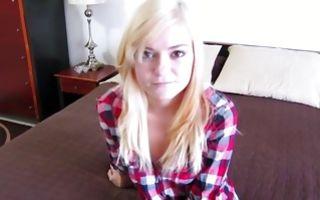 Cute blonde ex-girlfriend Chloe Foster fucked in pussy
