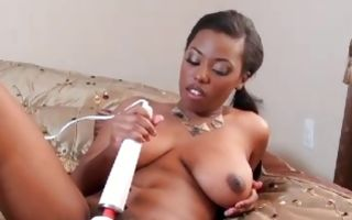Fabulous amateur slut Sonia Roxxx playing with vibrator