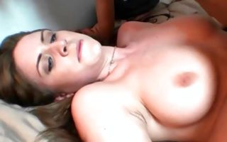 Awesome horny Ex-GF Delilah Blue has threesome sex