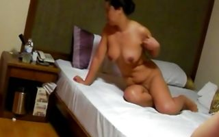 Raunchy brunette gets doggystyle pussy banged nicely