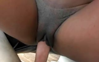 Sweet Ebony girlfriend Bella Doll cruelly jumping on prick