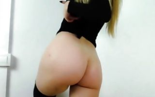 Terrific blonde ex-girlfriend with big butt riding on dick