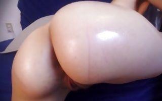 Impressive solo performance by astonishing amateur slut